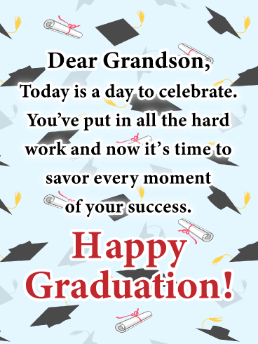 Time to Savor! - Graduation Card for Grandson