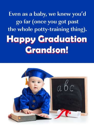 You'd Go Far! - Graduation Card for Grandson