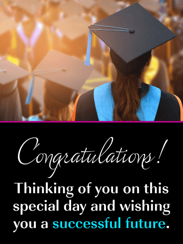 A Successful Future - Happy Graduation Card for Her
