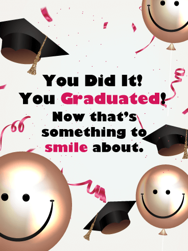 Time to Smile - Happy Graduation Card for Her