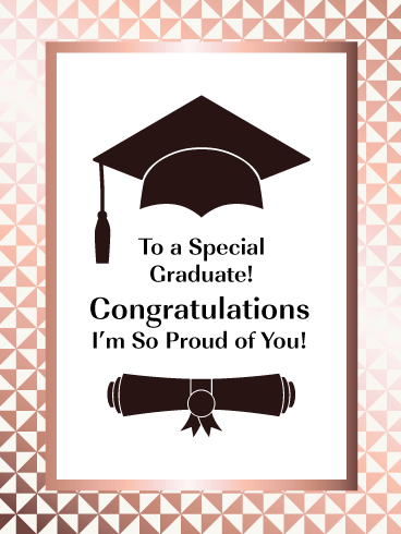 So Proud of You - Happy Graduation Card for Her