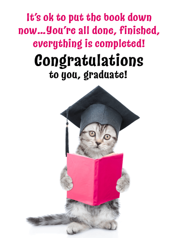 You're All Done! Happy Graduation Card for Her