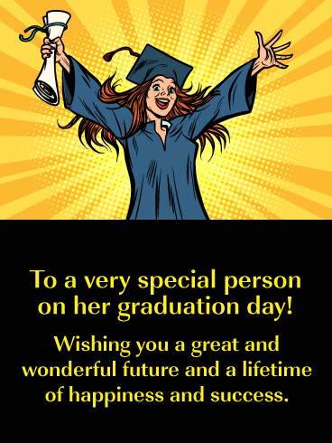 Success & Happiness - Happy Graduation Day for Her