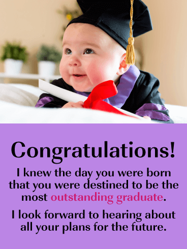 Destined to Graduate - Happy Graduation Card for Her