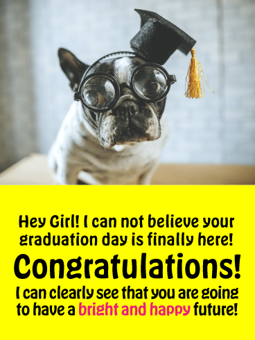 Bright & Happy - Happy Graduation Card for Her