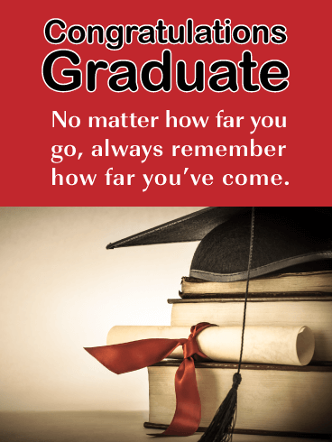 Continue to grow and succeed - Happy Graduation Card for Him