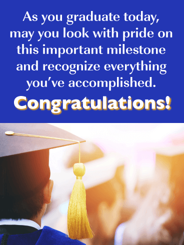 An Important Milestone - Happy Graduation Card for Him
