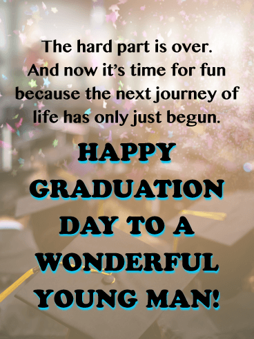 Time for Fun! - Happy Graduation Card for Him