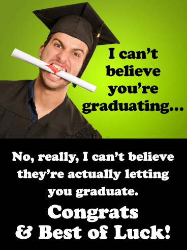 Congrats & Best of Luck! - Happy Graduation Card for Him