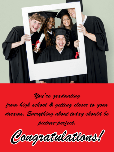 Getting Closer to Your Dreams! - High School Graduation Card