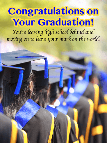 Leave Your Mark on the World - High School Graduation Card