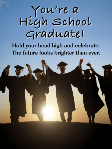 Hold Your Head High and Celebrate! - High School Graduation Card