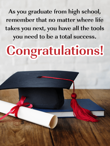 Move to the Next Chapter - High School Graduation Card