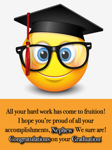 Hard Work Pays Off - Graduation Card for Nephew