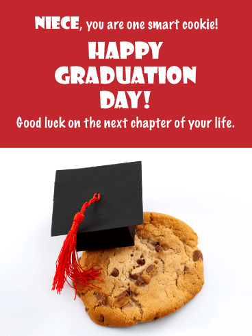 One Smart Cookie - Funny Graduation Card for Niece