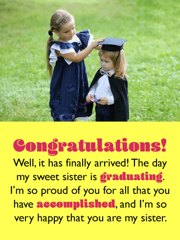 So Proud of You - Graduation Card for Sister