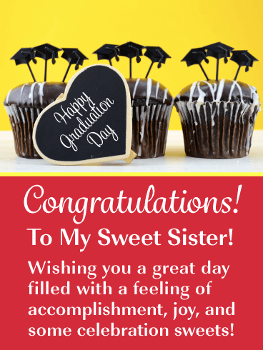 Celebration Sweets - Graduation Card for Sister