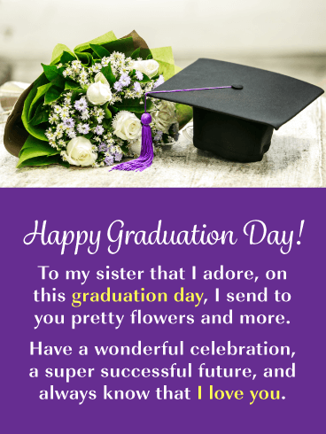 A Wonderful Celebration - Graduation Card for Sister