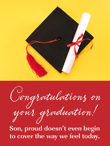 Proud Parents - Happy Graduation Card for Son
