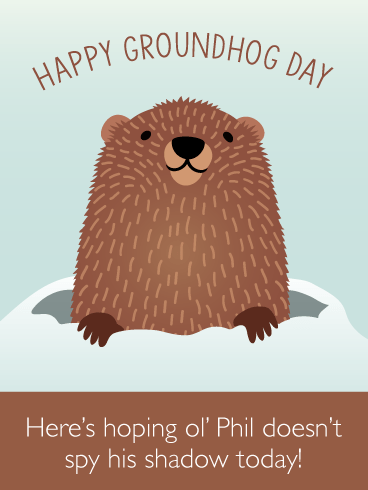 Cute Phil - Happy Groundhog Day Card