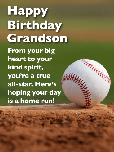 You're a True All-star - Happy Birthday Card for Grandson