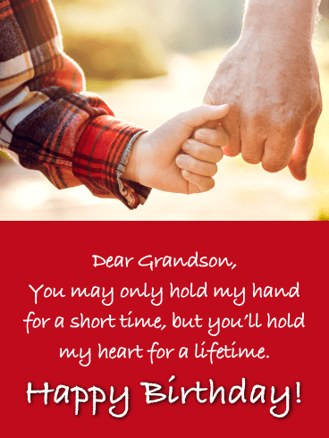 You Hold My Heart - Happy Birthday Card for Grandson
