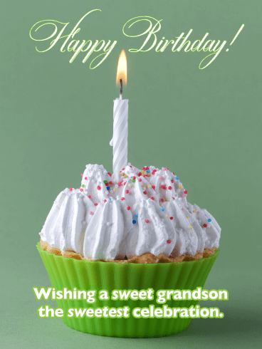 You Deserve to be Celebrated  - Happy Birthday Card for Grandson