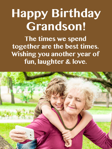 Laughter & Love - Happy Birthday Card for Grandson