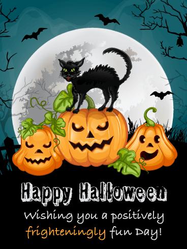 Frighteningly Fun – Happy Halloween Card   Birthday & Greeting Cards by  Davia