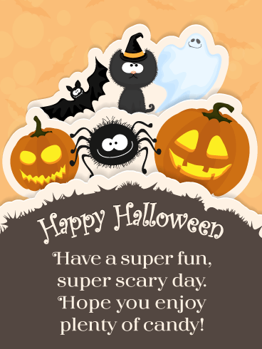 Super Fun & Scary – Happy Halloween Card