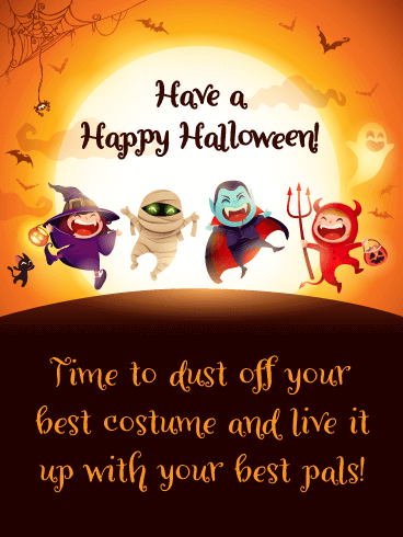 Costume Party - Happy Halloween Card