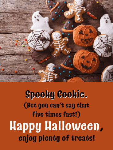 Spooky Cookie - Funny Happy Halloween Card
