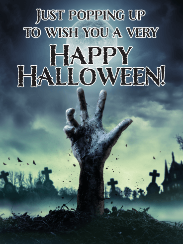 Zombie Hand - Happy Halloween Card