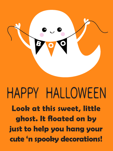 Ghostly Decorator - Happy Halloween Card