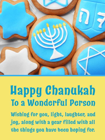 Chanukah Cookies - Happy Hanukkah Card
