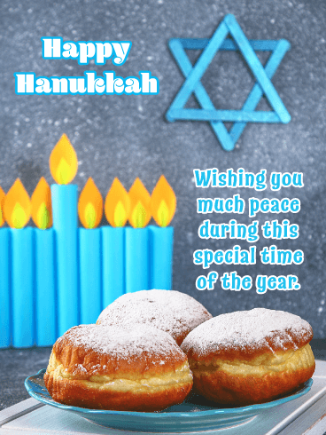 Wishing You Peace - Happy Hanukkah Card