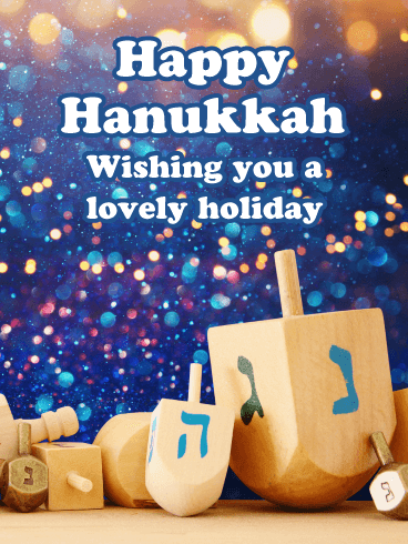 Sparkling Lights – Happy Hanukkah Card