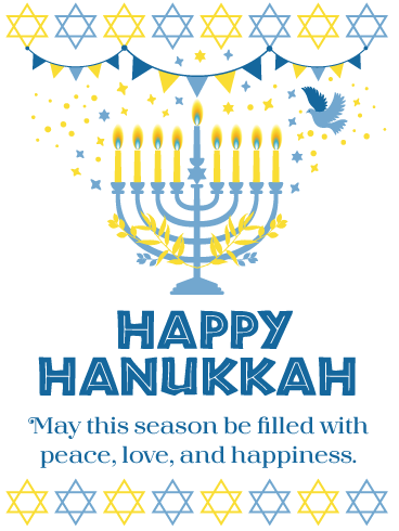 Peace & Happiness – Happy Hanukkah Card