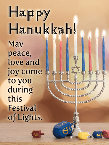 The 8 Days to Celebrate - Happy Hanukkah Card