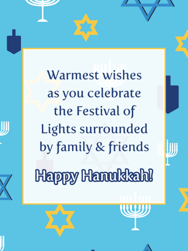 Warmest Wishes to You - Happy Hanukkah Card