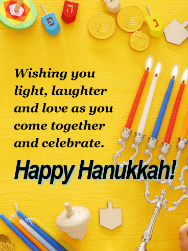 The Festival of Lights - Happy Hanukkah Card