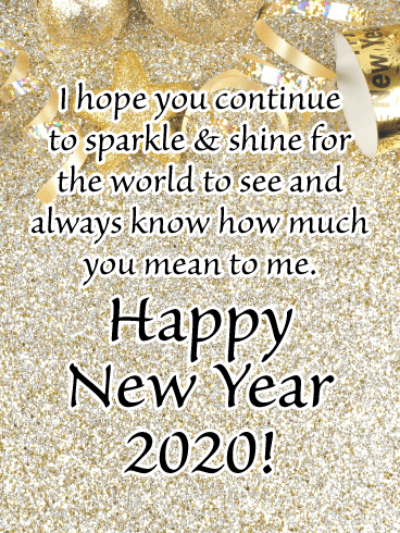 Sparkle & Shine - Happy New Year Wishes for 2020