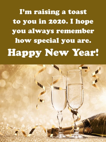 A Toast to You - Happy New Year Wishes for 2020
