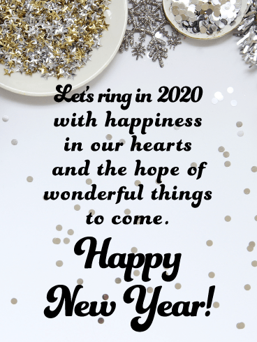 Ring with Happiness - Happy New Year Wishes for 2020