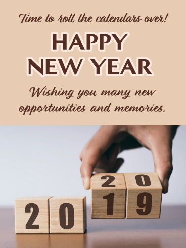 Change Your Calendar - Happy New Year Wishes for 2020