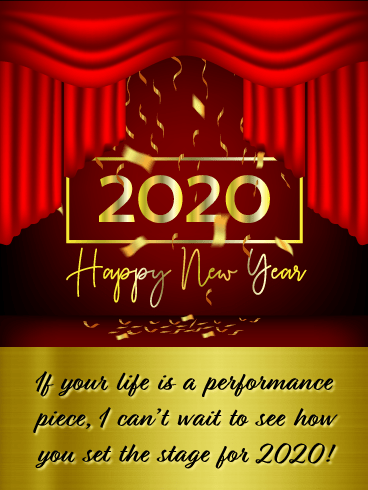 Set the Stage - Happy New Year Card 2020