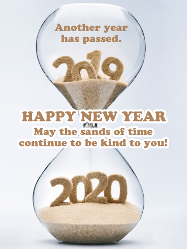 Sands of Time - Happy New Year Card for 2020