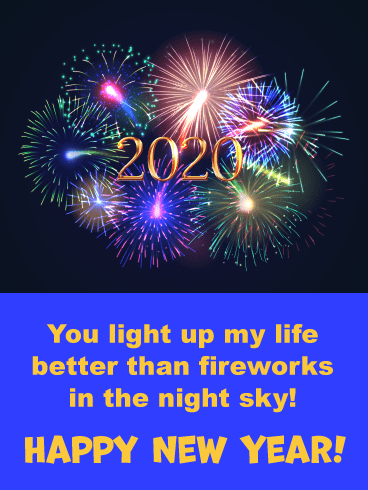 Light Up the New Year - Happy Wishes for 2020