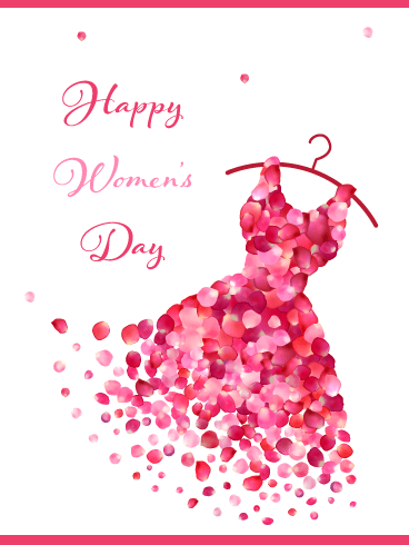 Beautiful Dress – International Women's Day Card