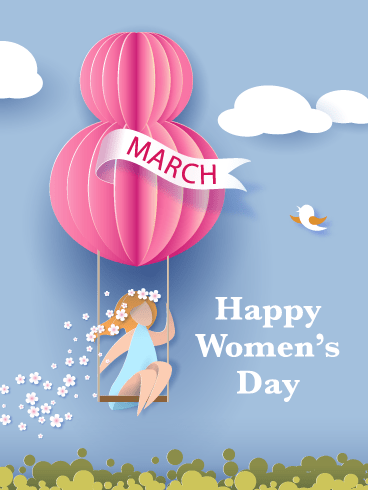 Pretty Flowers – International Women's Day Card